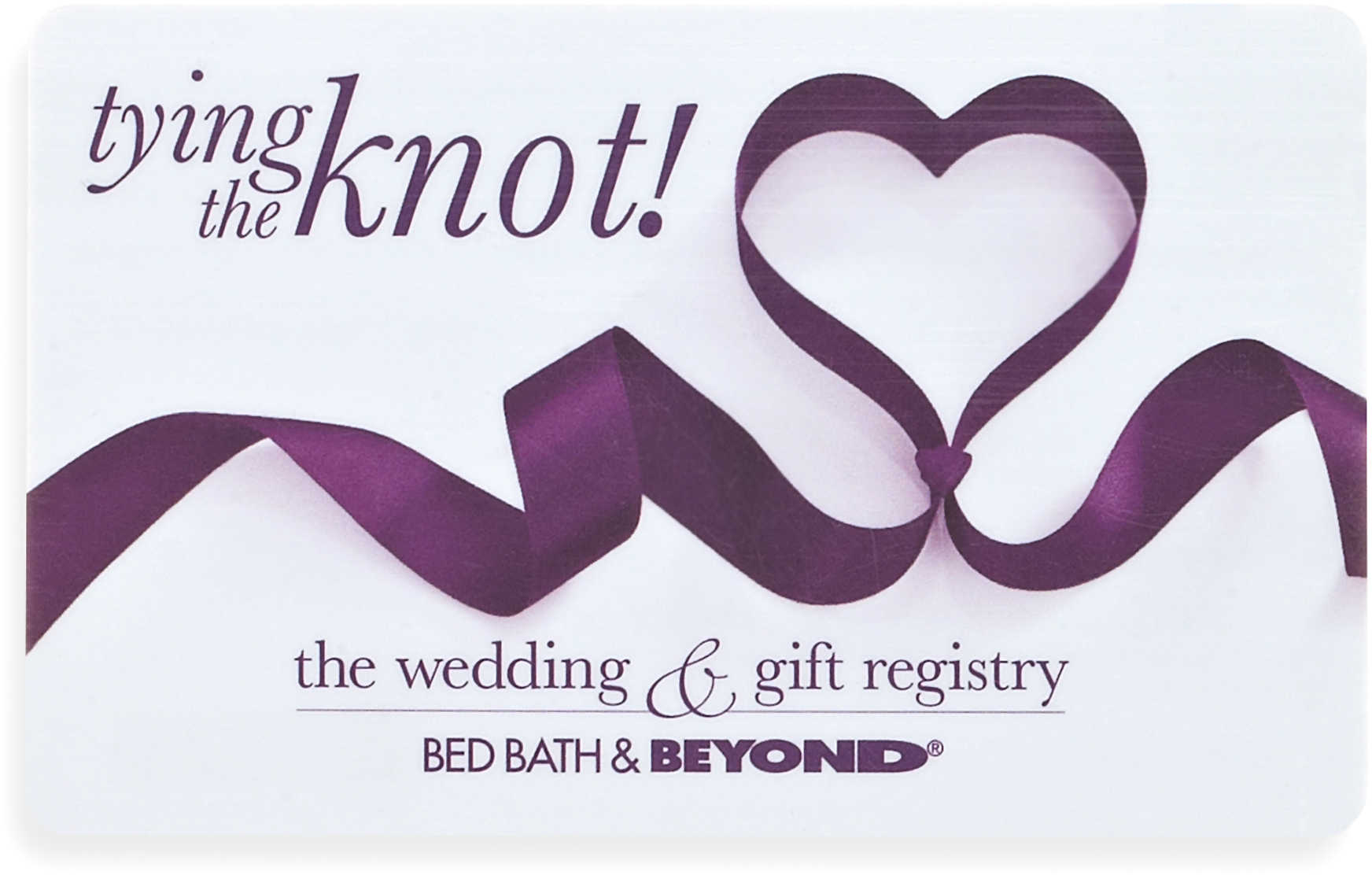 tying the knot ribbon heart gift card 25 bed bath beyond