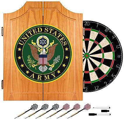 Elegant Guinness Dart Board Cabinet Set