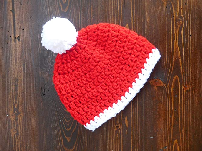 5cd68e78f439a Image Unavailable. Image not available for. Color  Crochet Christmas Baby  Hat