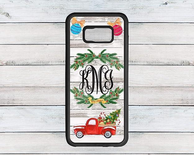 Truck Edge Mobile >> Amazon Com Personalized Monogram Red Christmas Truck Phone