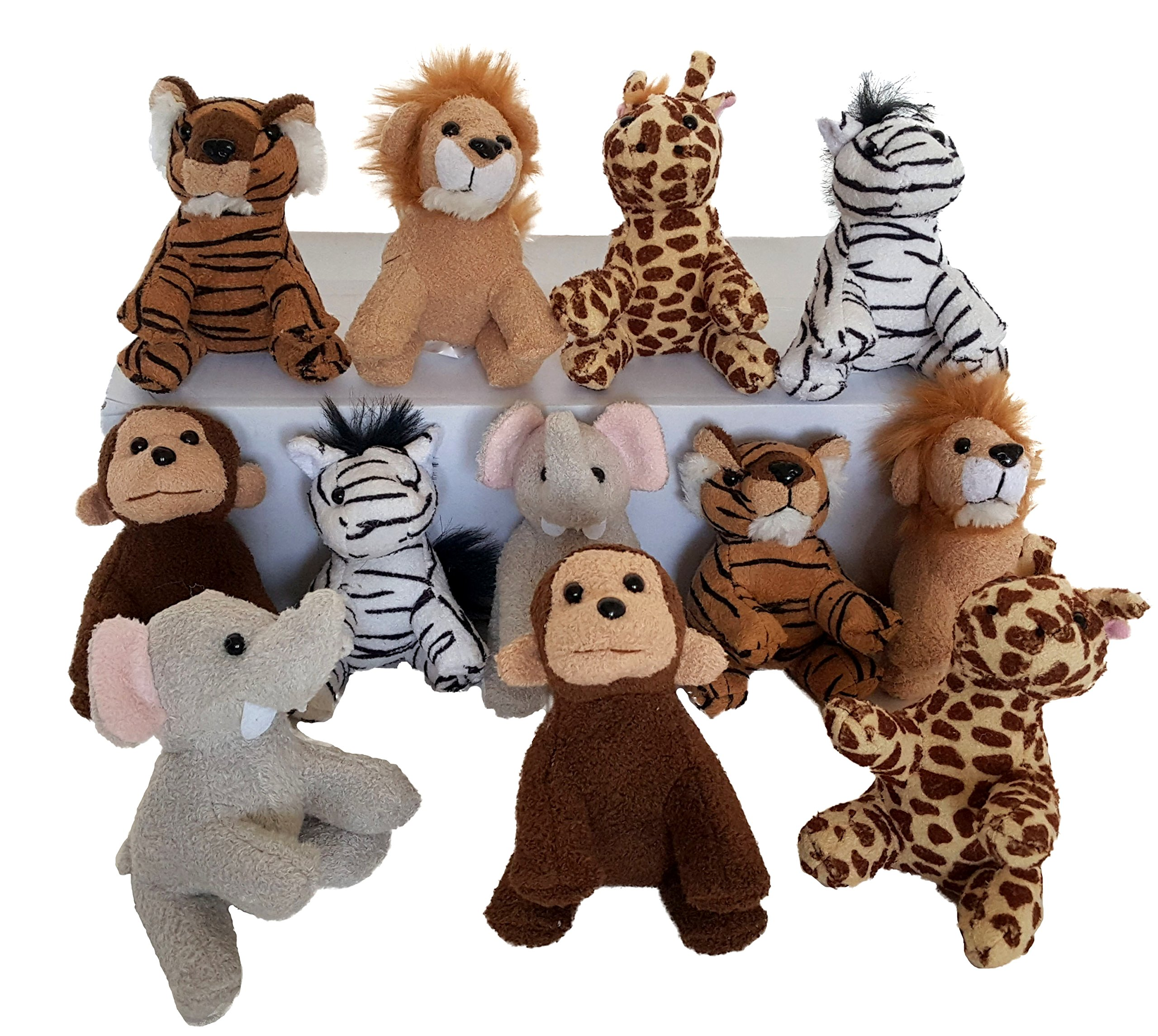 Dondor Suede Zoo Animals, 12 Piece Party Pack, By (Suede Zoo Animals) by Dondor
