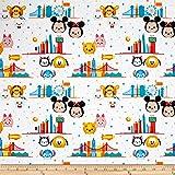 Personajes de Disney Tsum Tsum embalado enfrenta Toss Tela Patchwork Algodón 100/%