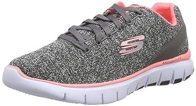Skechers FlexWest End - Sneakers Basses Femme - Noir (BKHP) - 41 EU II2tXhIHu6