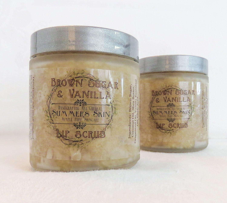 Brown Sugar & Vanilla Lip Scrub by Summer's Skin