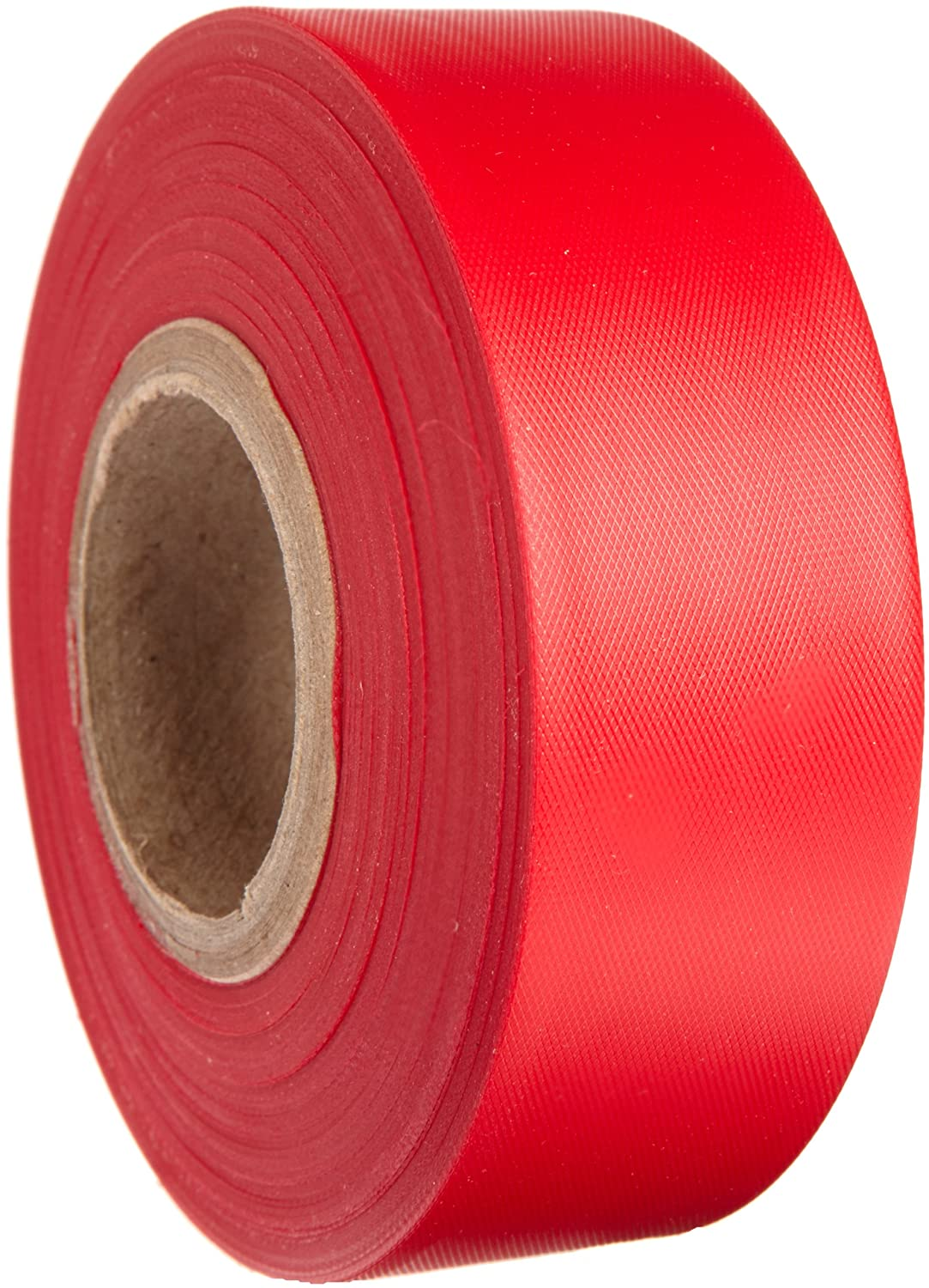 """Brady Red Flagging Tape for Boundaries and Hazardous Areas - Non-Adhesive Tape, 1.188"""" Width, 300' Length (Pack of 1) - 58346"""