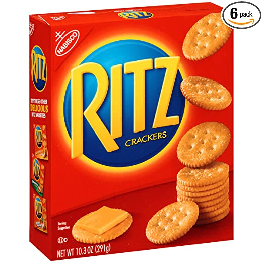 Ritz Crackers (Original, 10.3-Ounce Boxes, 6-Pack)