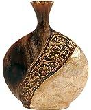 Deco 79 64735 Ceramic/Capiz Shell Vase in Pot Shape