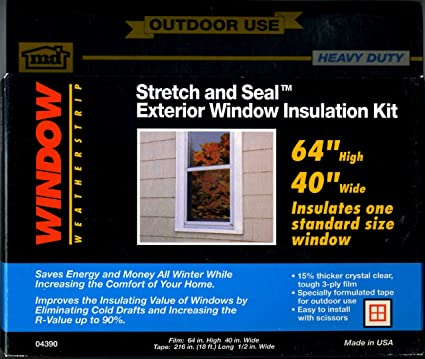 md outdoor use heavy duty window stretch and seal exterior window insulation kit amazoncom