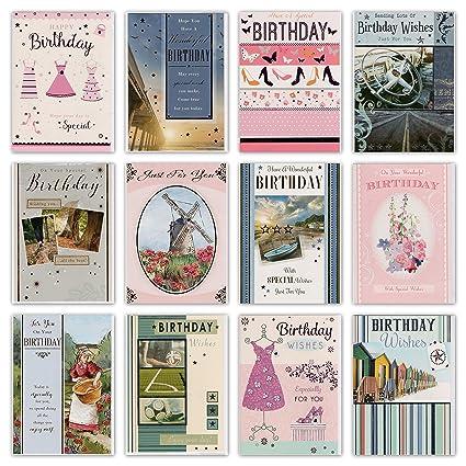 30 tarjetas de felicitación de cumpleaños de diseño surtido ...