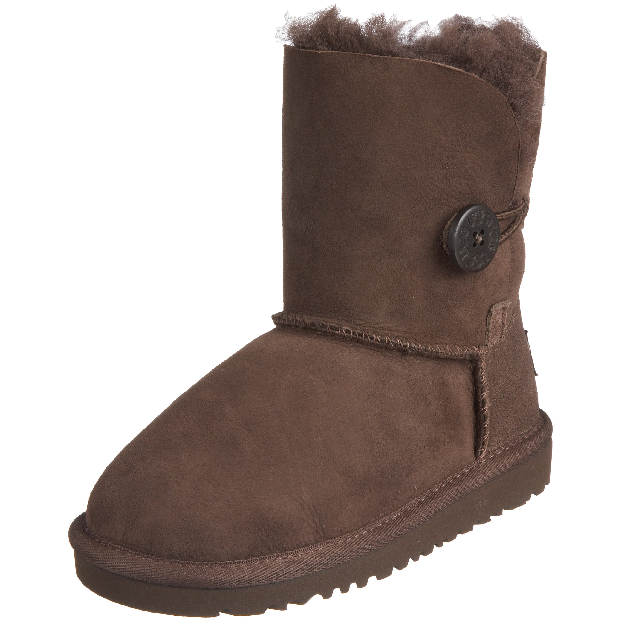UGG Kids Girl's Bailey Button (Toddler/Little Kid) Chocolate 12 Little Kid M by UGG