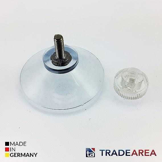 TA TradeArea 10 ventouses /Ø 40 mm avec Filetage M4 et /écrou molet/é Transparent comme Un Chiffon en Microfibre