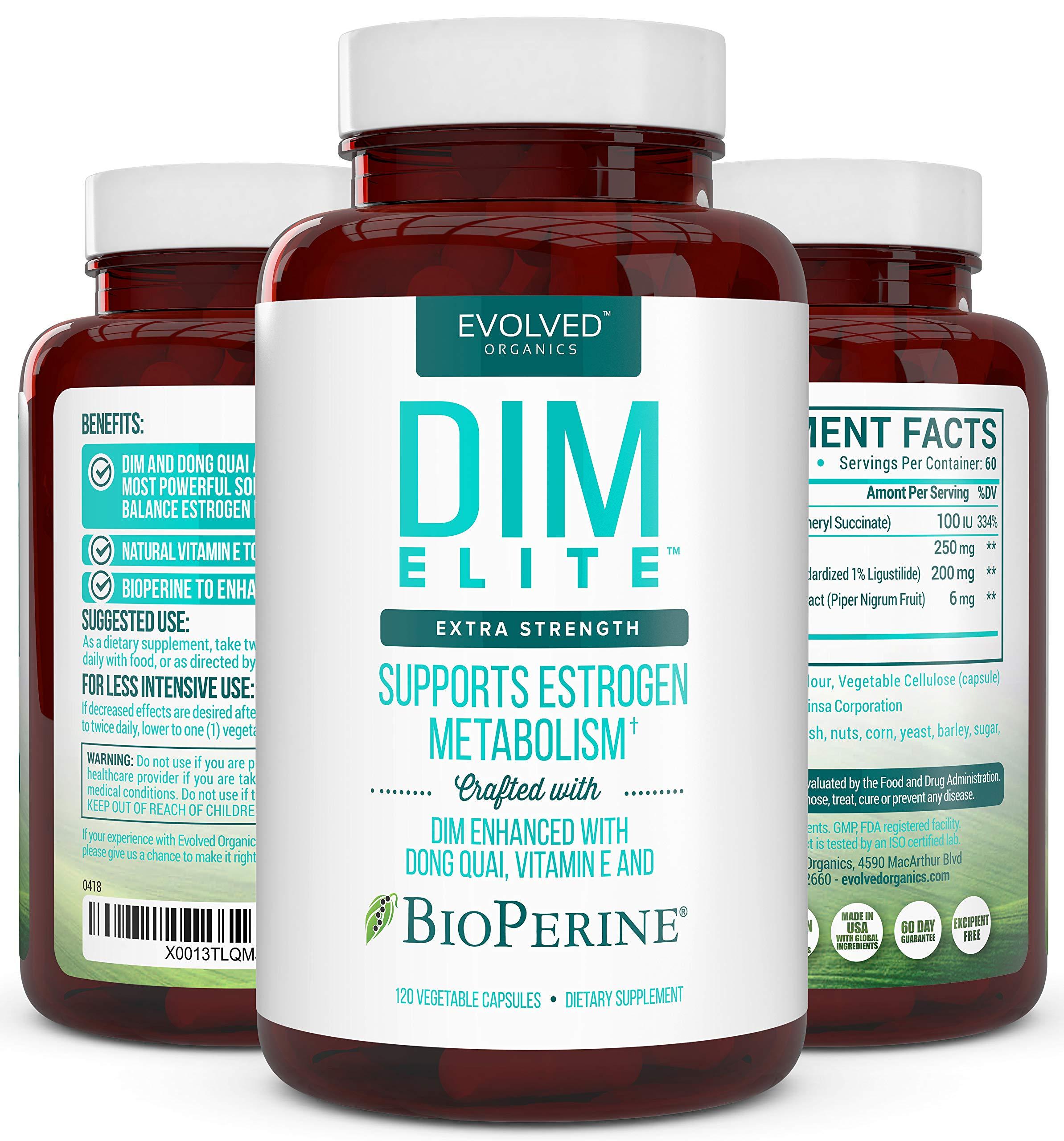 Extra Strength DIM 250mg - Plus Dong Quai, Vitamin E & BioPerine (2-