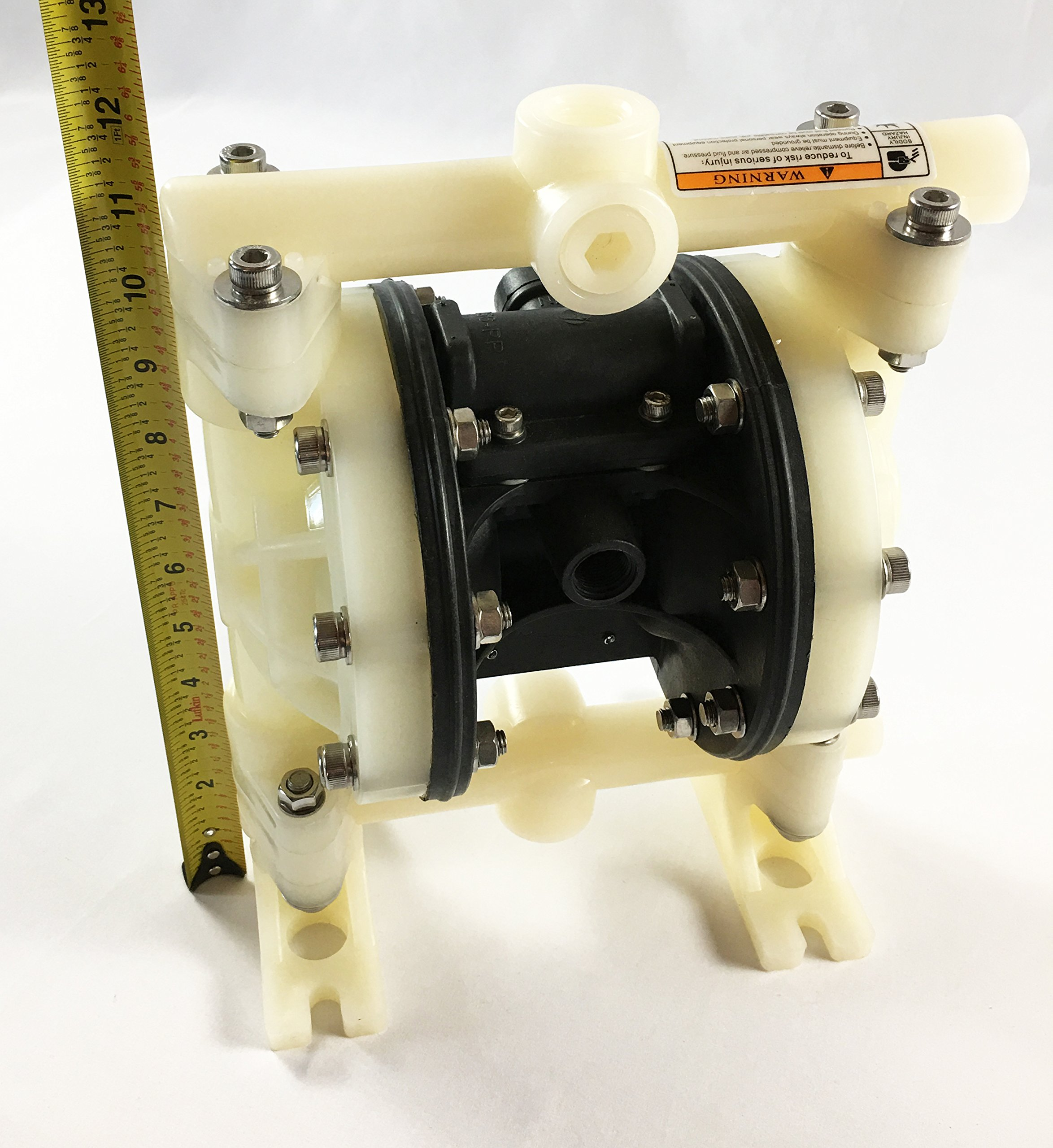 Double Diaphragm Air Pump PII.50 Chemical Industrial Polypropylene 1/2'' or 3/4'' NPT Inlet / Outlet by Plating International (Image #7)