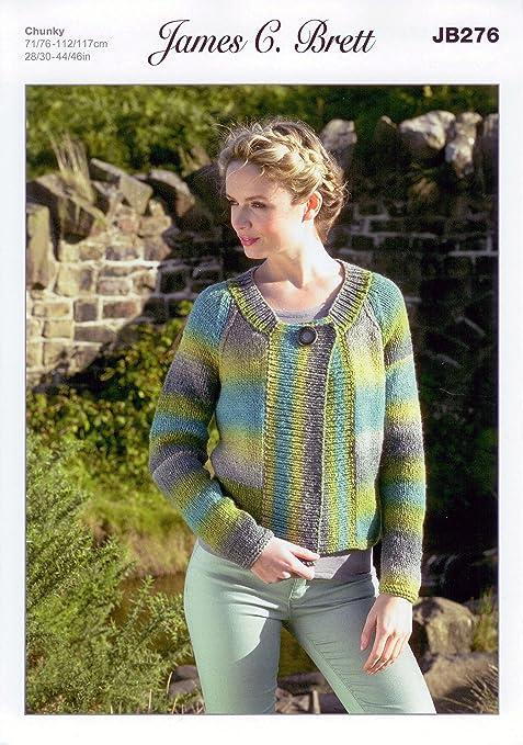 James C Brett JB276 Knitting Pattern Ladies Jacket to knit in ...