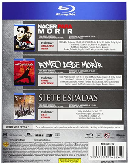 Amazon.com: Pack: Nacer Para Morir + Romeo Debe Morir + Siete Espadas (Blu-Ray) (Import Movie) (European Format - Zone B2): Movies & TV