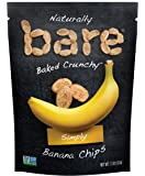 Bare Gluten Free Plus Baked Natural Banana Chips, Simply, 6 Count
