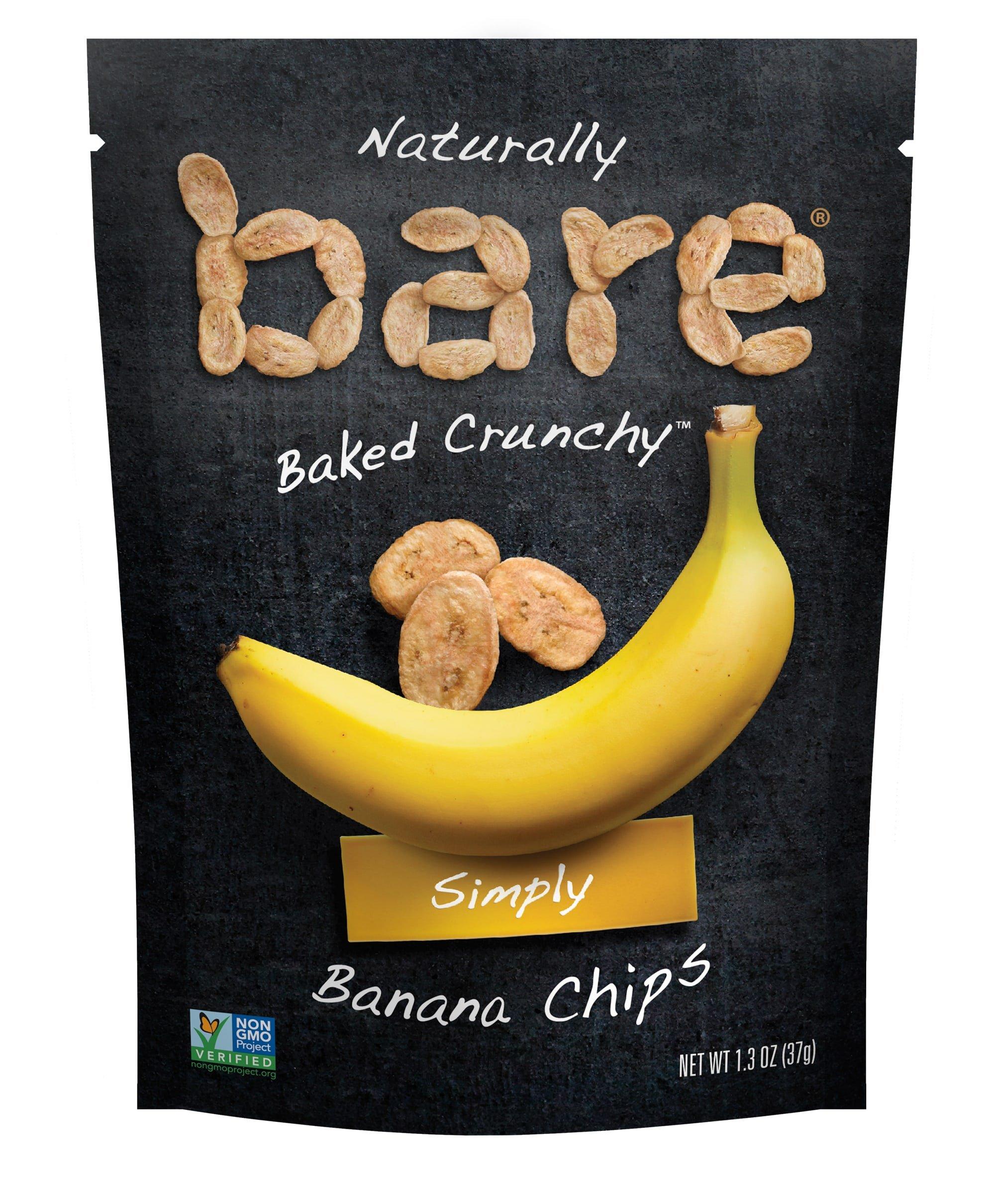 Bare B04PL013-8X6 1.3Oz Natural Banana Chips Simply: 48-Unit Master Case: Usa