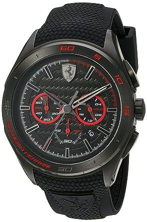 72ef44d7a Amazon.com: Scuderia Ferrari Men's Stainless Steel Quartz Watch with ...