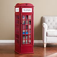 Red Phone Booth Media Storage Cabinet Deals