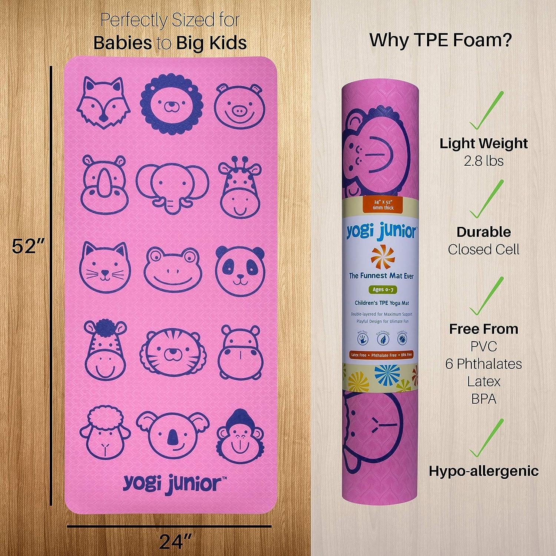 Amazon.com: Yogi Junior Kids esterilla de yoga - libre de ...