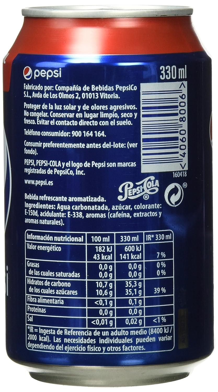 Pepsi refresco - Pack de 9 x 33 cl - Total: 2970 ml: Amazon.es: Amazon Pantry