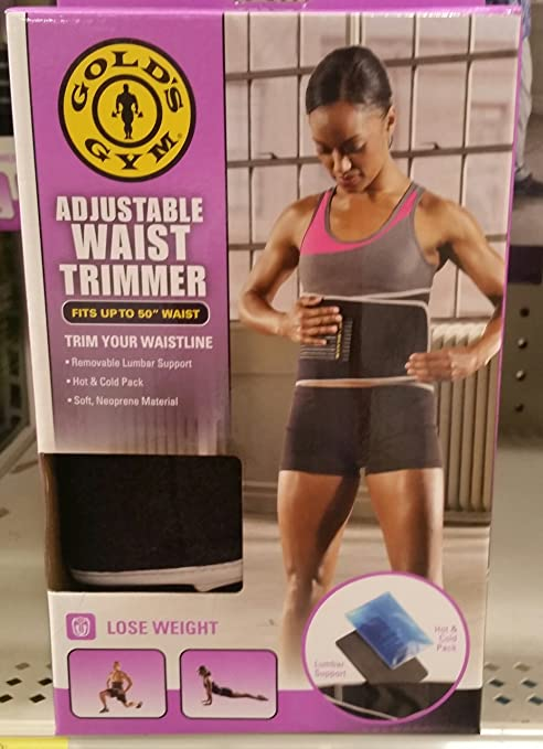 e4a2633356 Image Unavailable. Image not available for. Color  Gold s Gym Waist Trimmer  Support Belt Adjustable ...