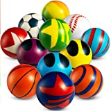 50 Mini Stress Balls Assortment - Bulk 2 Inch Soft Toy Variety Pack Stress Relief Balls, Squeezable Sensory Fidget Balls…