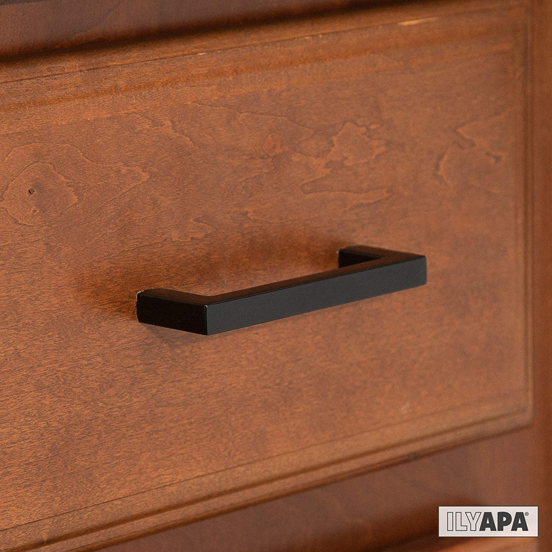 3 Inch Hole Center Curved Bar Pulls 10 Pack of Kitchen Cabinet Hardware Black Kitchen Cabinet Handles