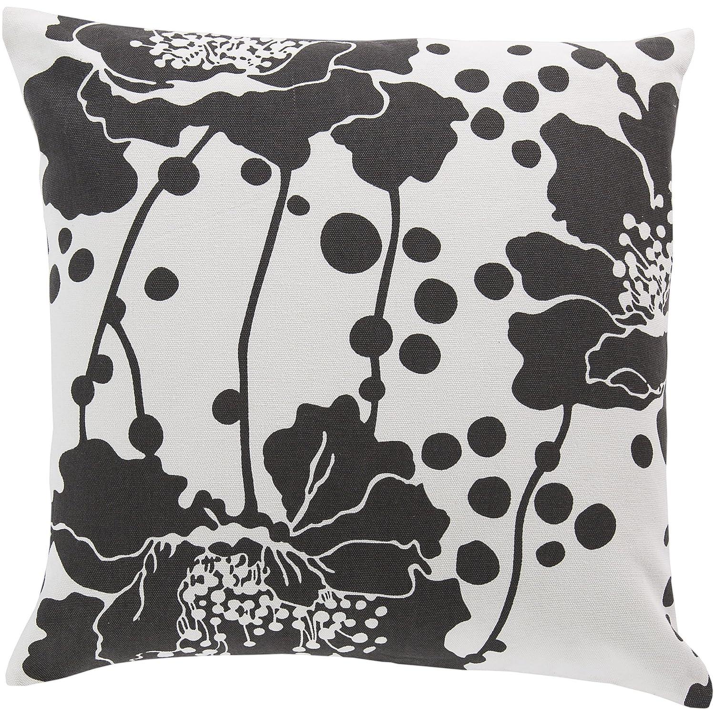 Surya Florence Broadhurst fb021 – 2020p合成塗りつぶし枕、20 by 20インチ、ブラック   B00H2KC7VQ