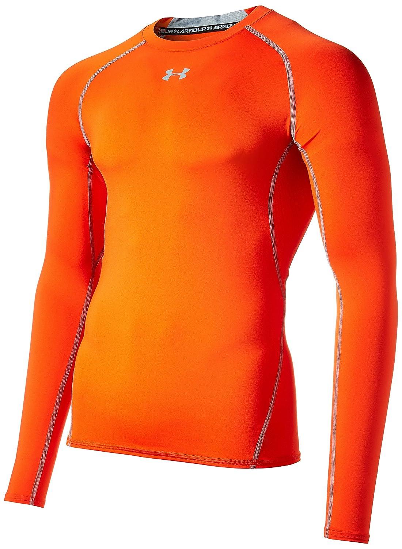 [アンダーアーマー] ヒートギアアーマーコンプレッションLS(トレーニング/長袖ベースレイヤー) ヒートギア メンズ B00KXA8R16 4L|Dark Orange/Steel Dark Orange/Steel 4L