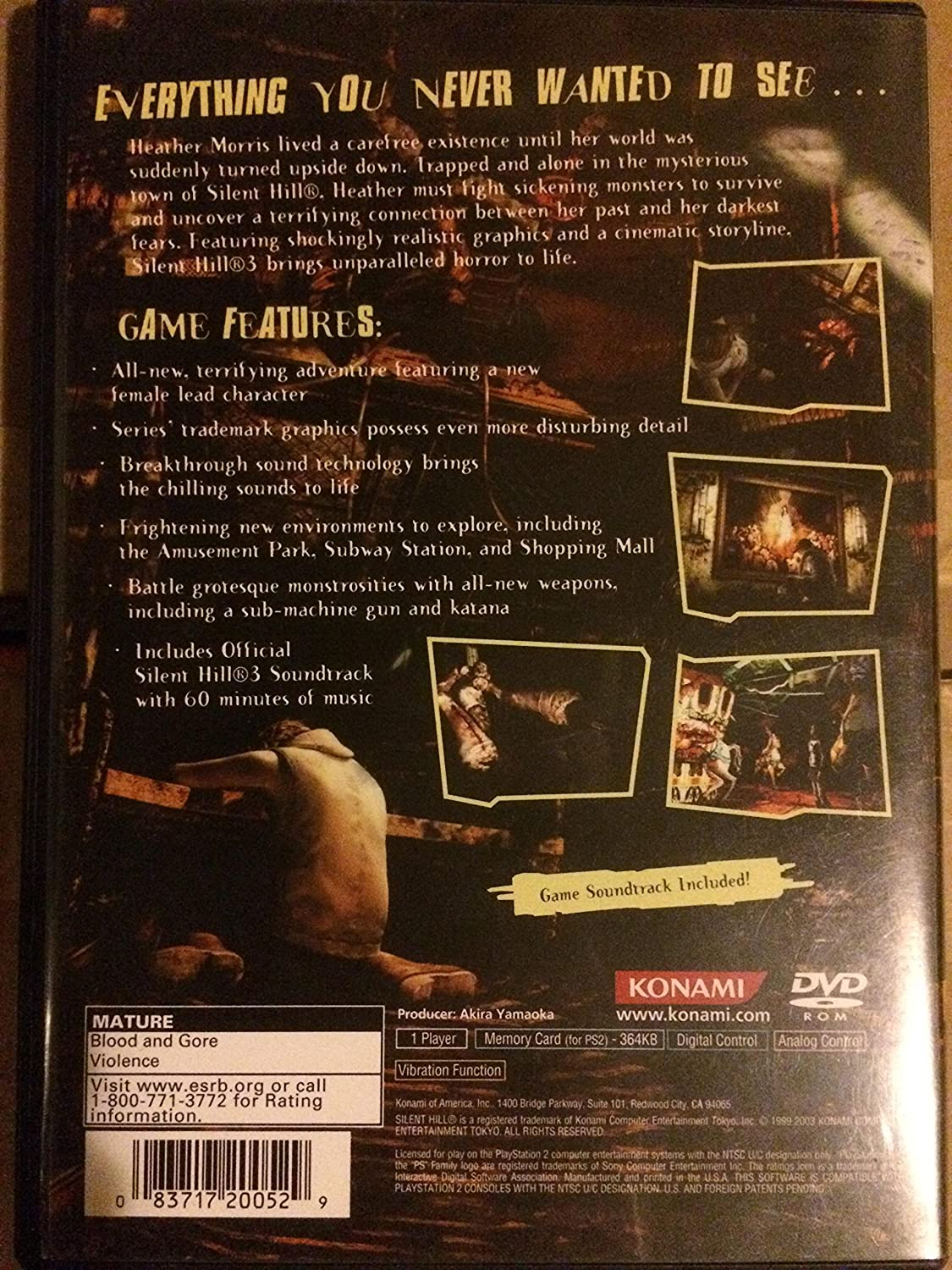Amazon Com Silent Hill 3 With Game Soundtrack Cd Video Games