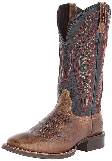 Ariat Men's Rodeo Warrior Western Cowboy Boot, Shadow Brown/Silver Stream,  ...