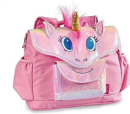 Kids Girls Unicorn with Plush Wing Backpack Ourdoor School Rucksack Bag