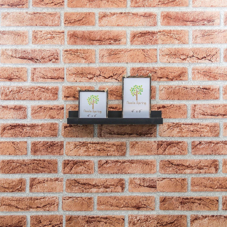 Black Harbour Housewares Wooden 32.5cm Floating Picture Ledge Wall Shelves