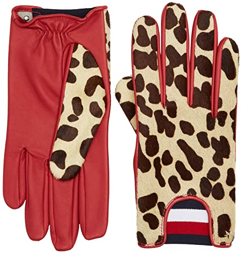 Tommy Hilfiger Leopard Gloves, Guantes para Mujer