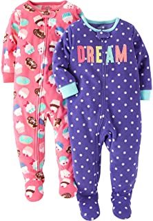 Carter s Baby and Toddler Girls  2-Pack Fleece Footed Pajamas c5fbcd5f5