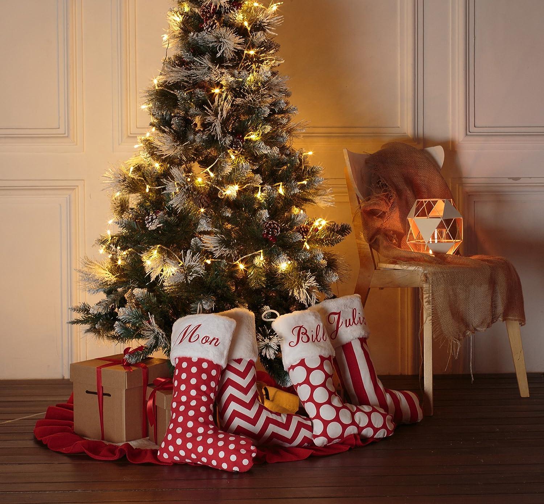 Amazon.com: AOLOSHOW Giltter Name Family Christmas Stockings Kits Burlap Customize Gift Kids Fireplace Decor 1pcs: Home & Kitchen
