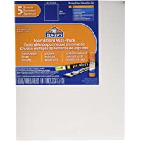 ELMERS Pre-Cut White Foam Board Sheets, 8 X 10, 5/ Pack (950020)