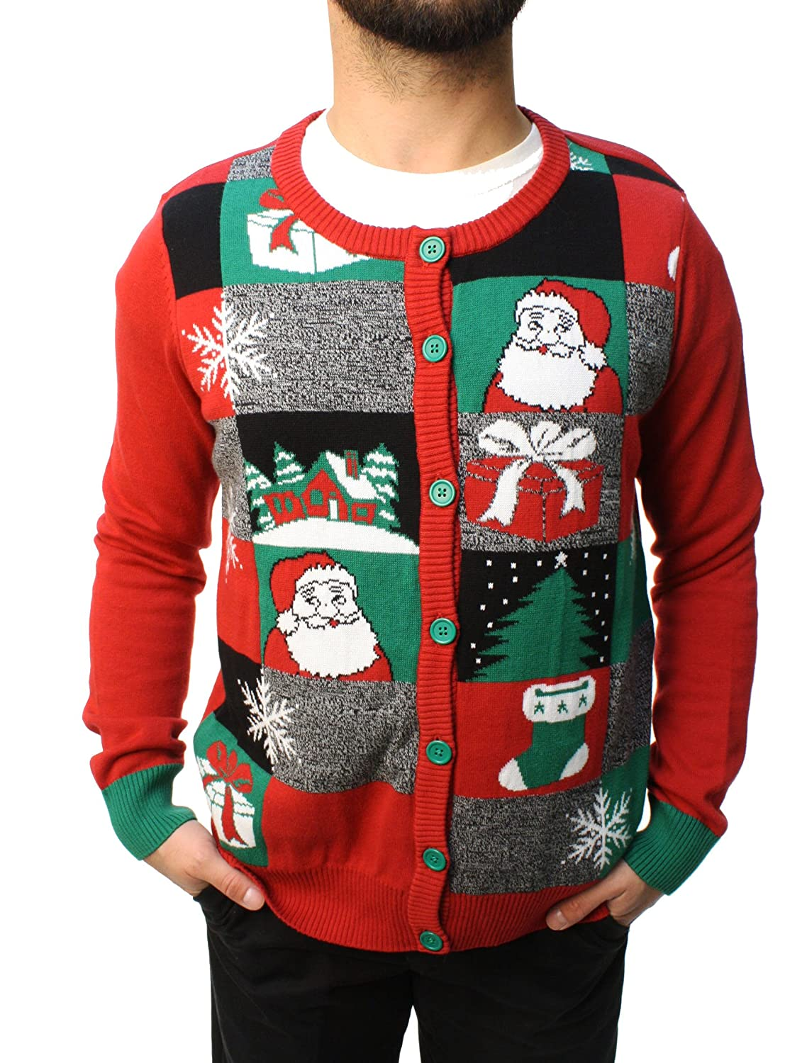 Ugly Christmas Sweater Teen Boy's Holiday Cardigan Pullover Sweatshirt