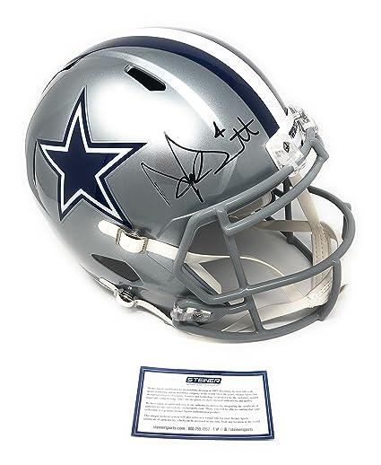 fbbc19cc137 Dak Prescott Dallas Cowboys Signed Autograph Full Size Speed Helmet DAK  Hologram   Steiner Sports Certified