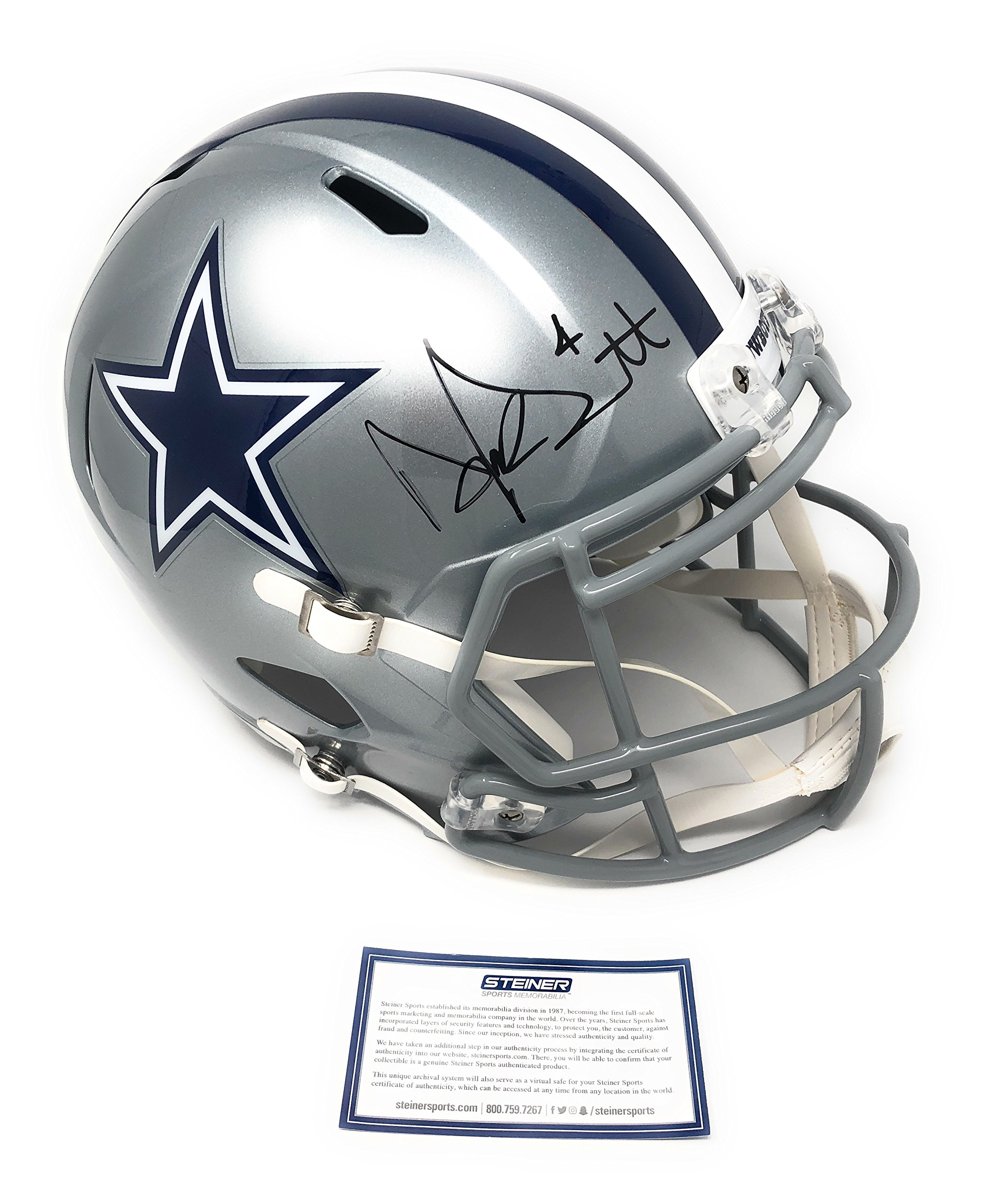 Dak Prescott Dallas Cowboys Signed Autograph Full Size Speed Helmet DAK Hologram & Steiner Sports Certified