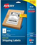 "Avery Internet Shipping Labels with TrueBlock Technology for Inkjet Printers, 5-1/2"" x 8-1/2"", Case Pack of 5 ( 8126)"