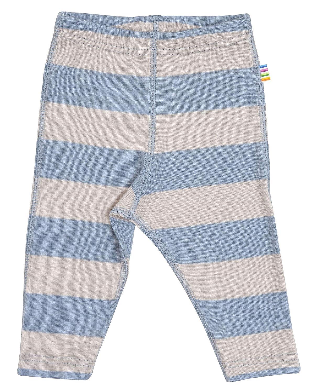 Joha Baby Leggings aus Reiner Merinowolle blau/grau gestreift