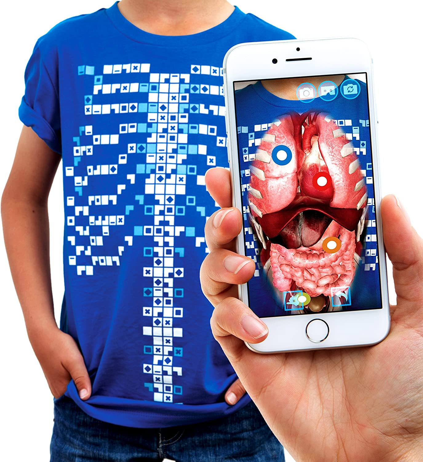 Curiscope Virtuali-Tee: Educational Augmented Reality T-Shirt for Anatomy