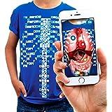 Curiscope Virtuali-tee | Camiseta Educativa de Realidad Aumentada | Niños: XS, Azul