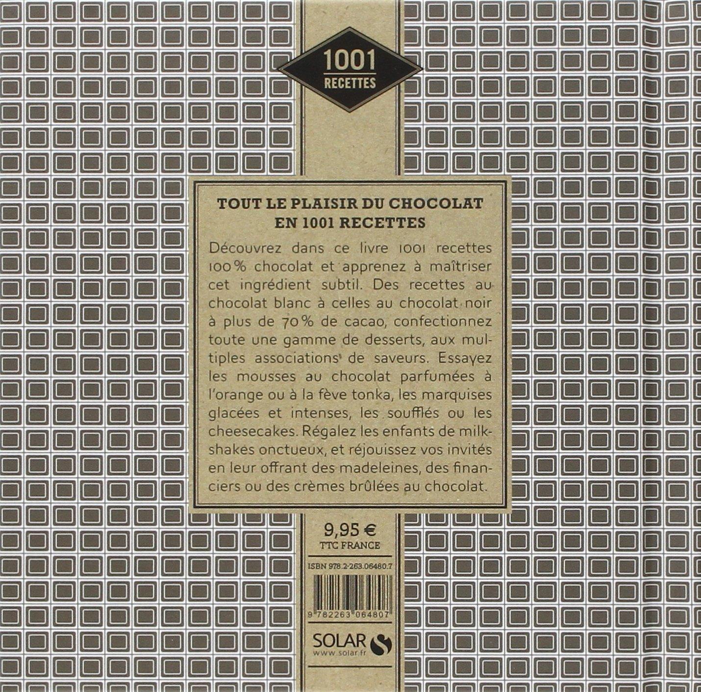 Amazon.fr - 1001 recettes - Plaisirs au chocolat - Estérelle COLLECTIF -  Livres