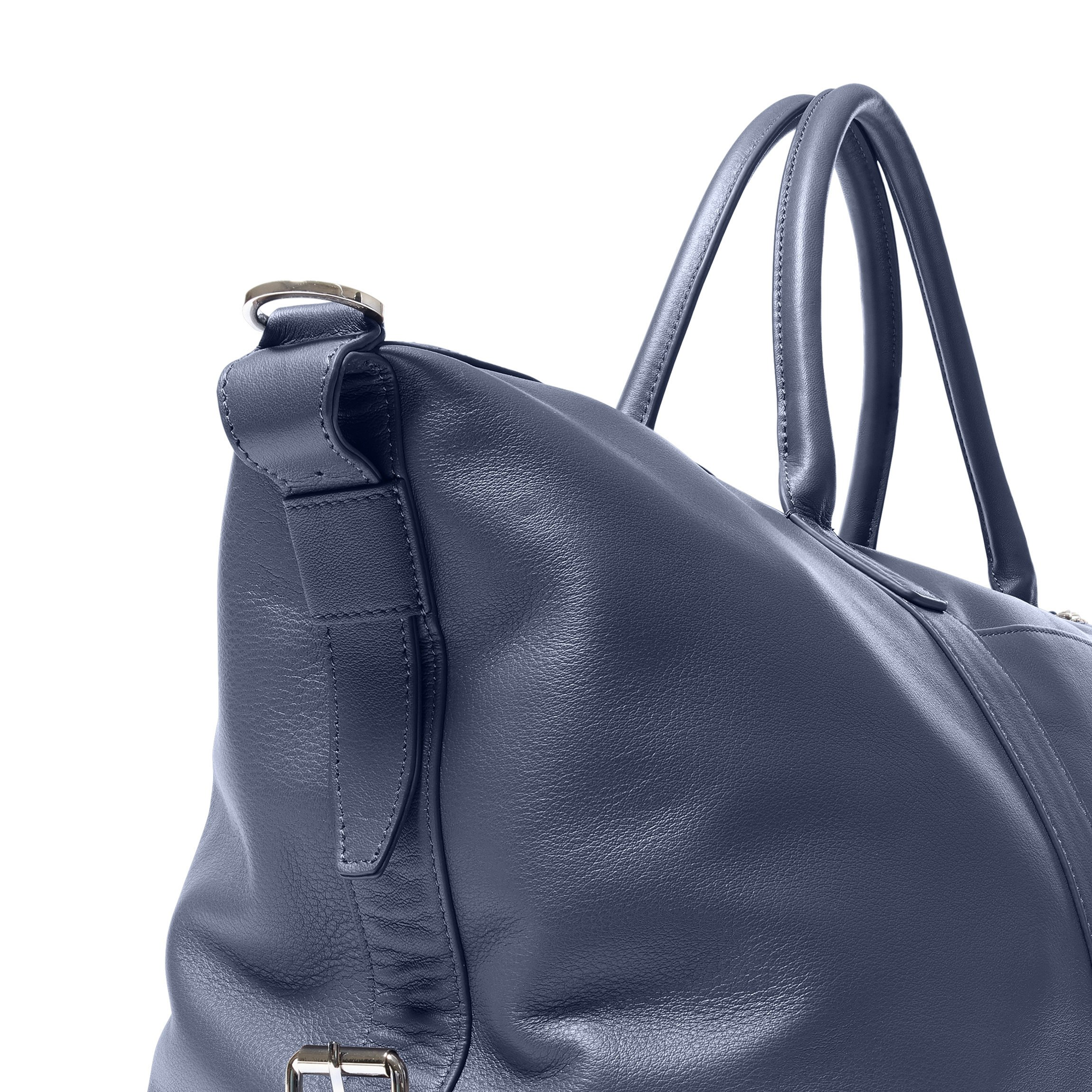 Kessler Medium Duffle - Full Grain Leather Leather - Navy (blue) by Leatherology (Image #4)