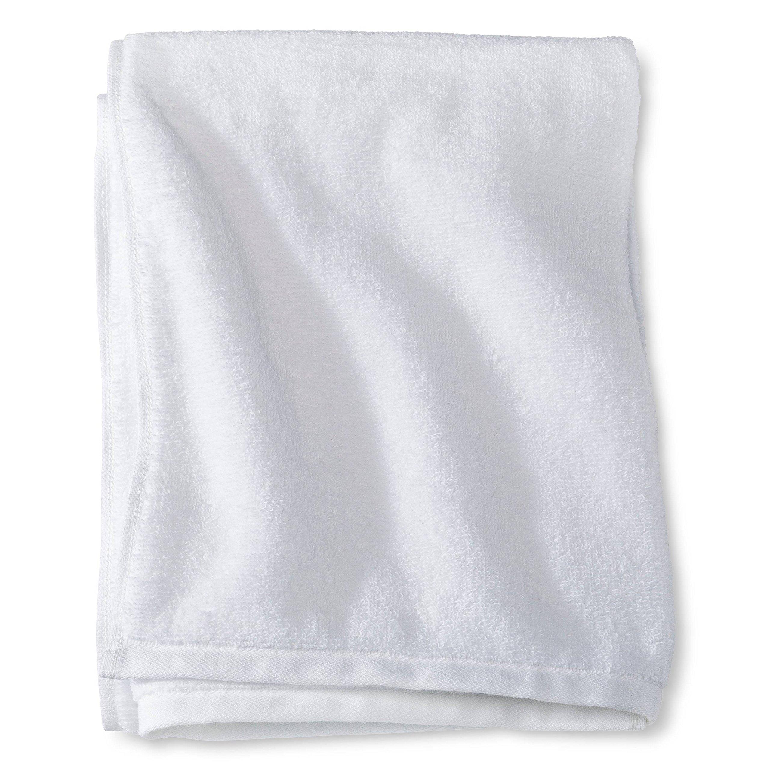 WHITE Color Bulk Fingertip Towels Terry Velour w/Hemmed Ends 100% Cotton (12, BLACK) (24, WHITE)