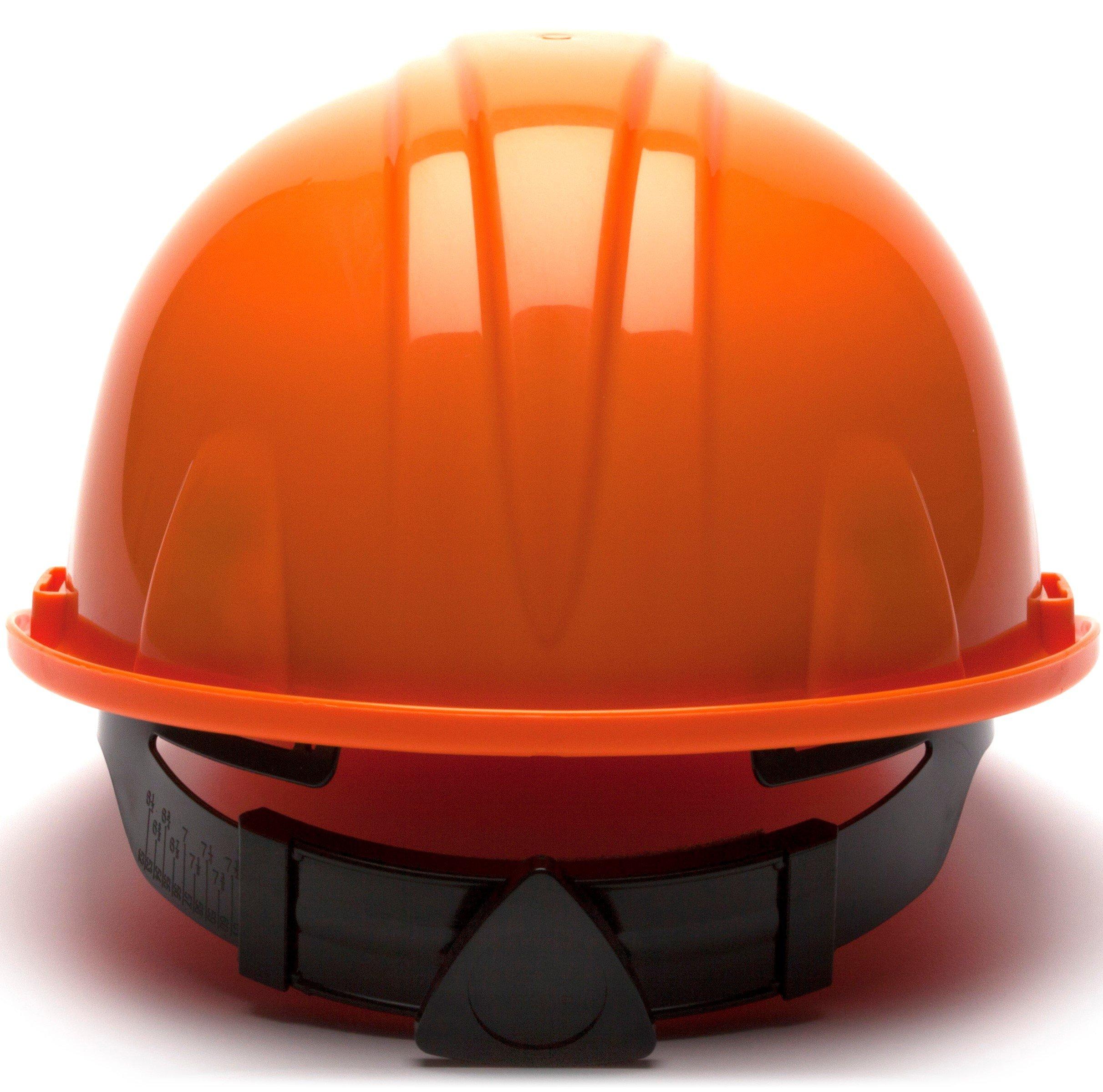 Pyramex Standard Shell Snap Lock Suspension Hard Hat, 4 Point Snap Lock Suspension, Orange by Pyramex Safety (Image #4)