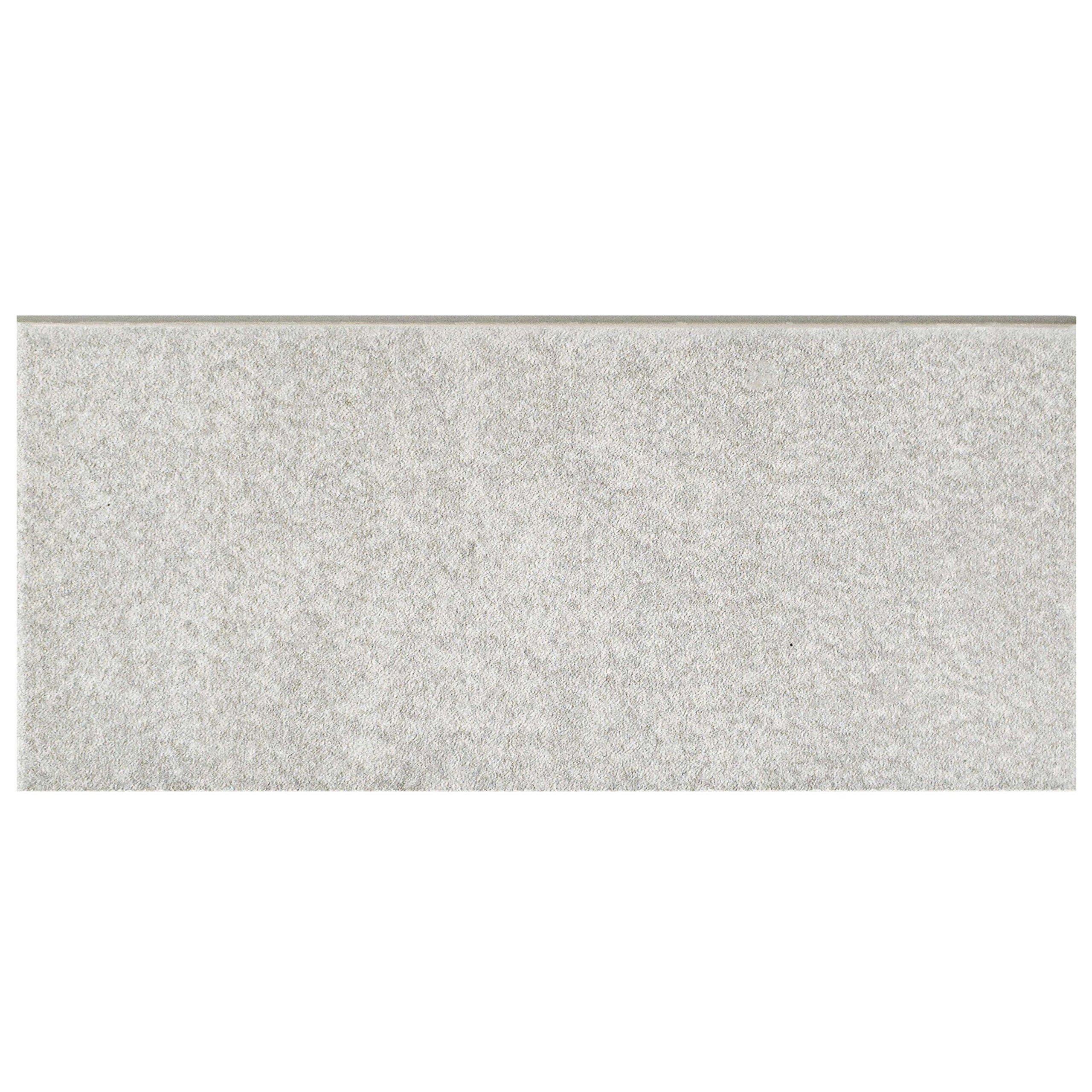 SomerTile FRC8TWGB Fifties Ceramic Bullnose Floor and Wall Trim Tile, 3.5'' x 7.75'', Grey